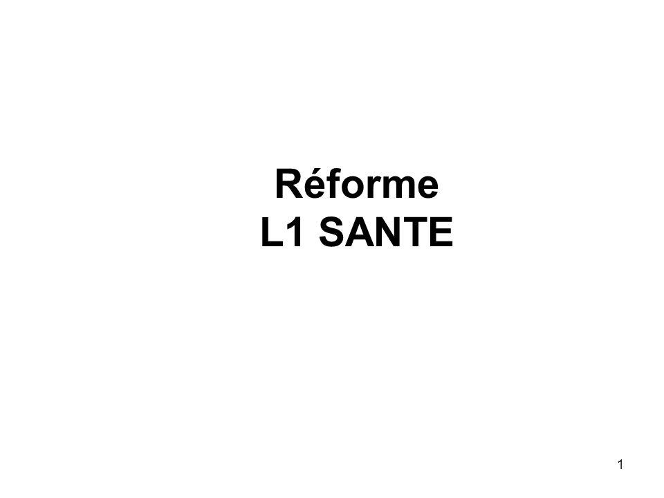 1 Réforme L1 SANTE