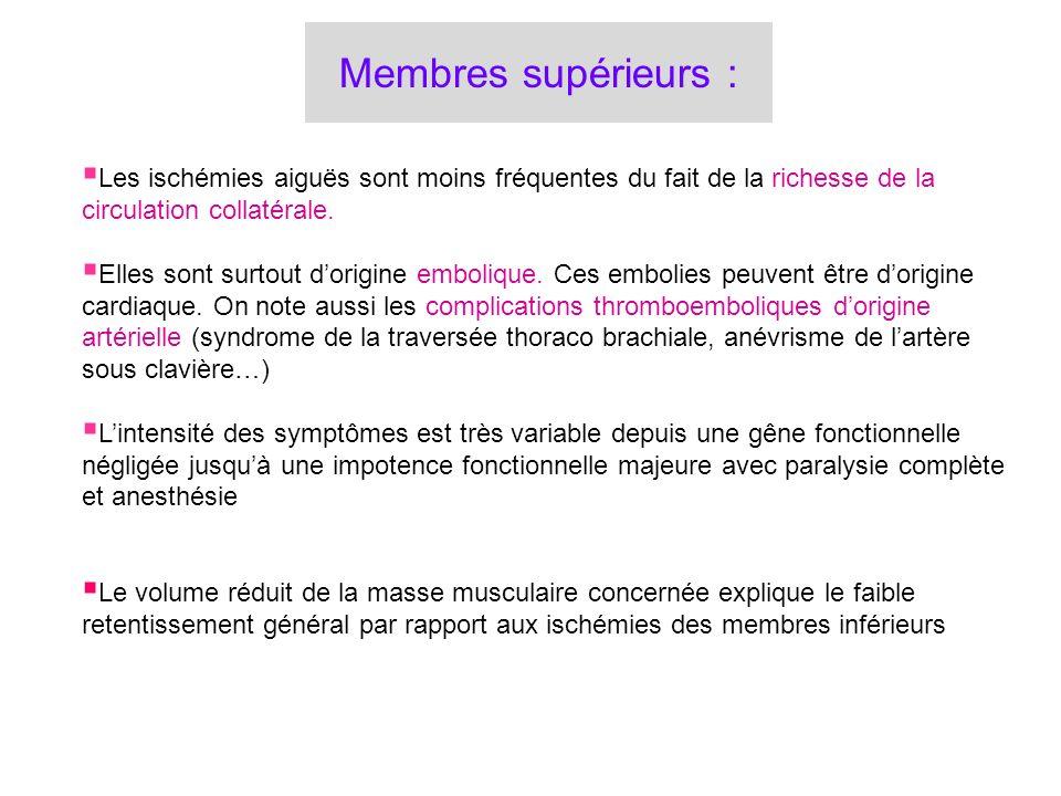 Carrefour aortique aortique localisation ilio-fémorale ilio-fémorale localisation Fémoro-poplitée Artères jambières