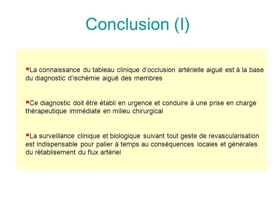 Thrombose sur artérite ou embolie sur artérite Catégorie I ou IIaCatégorie IIb Thrombolyse In situ succès Angioplastie transluminale +/- stent Incompl
