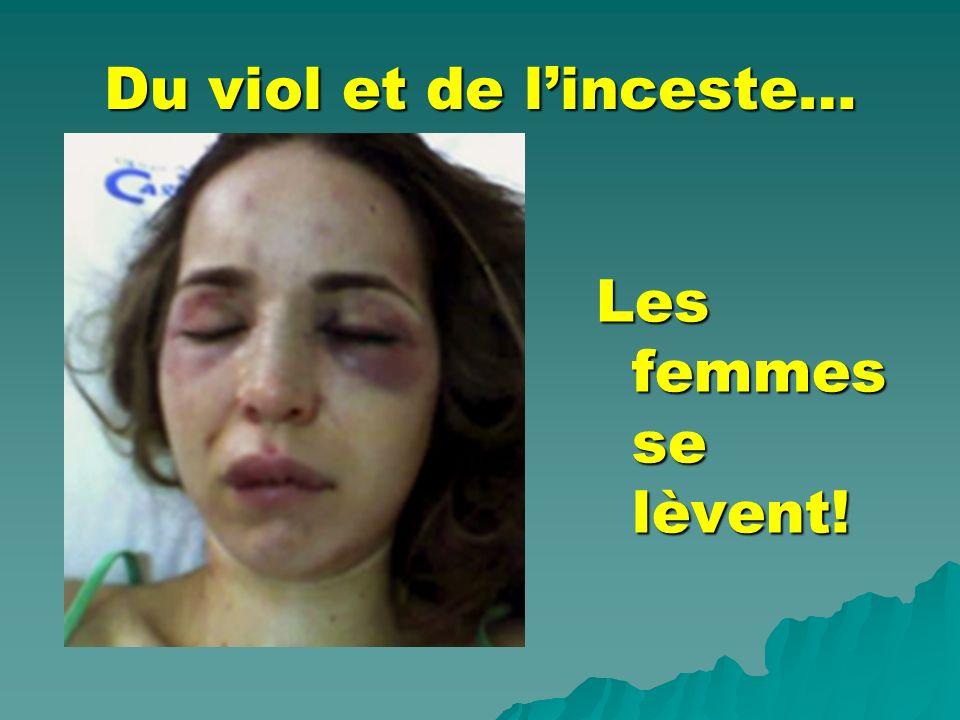 Du viol et de linceste… Les femmes se lèvent!