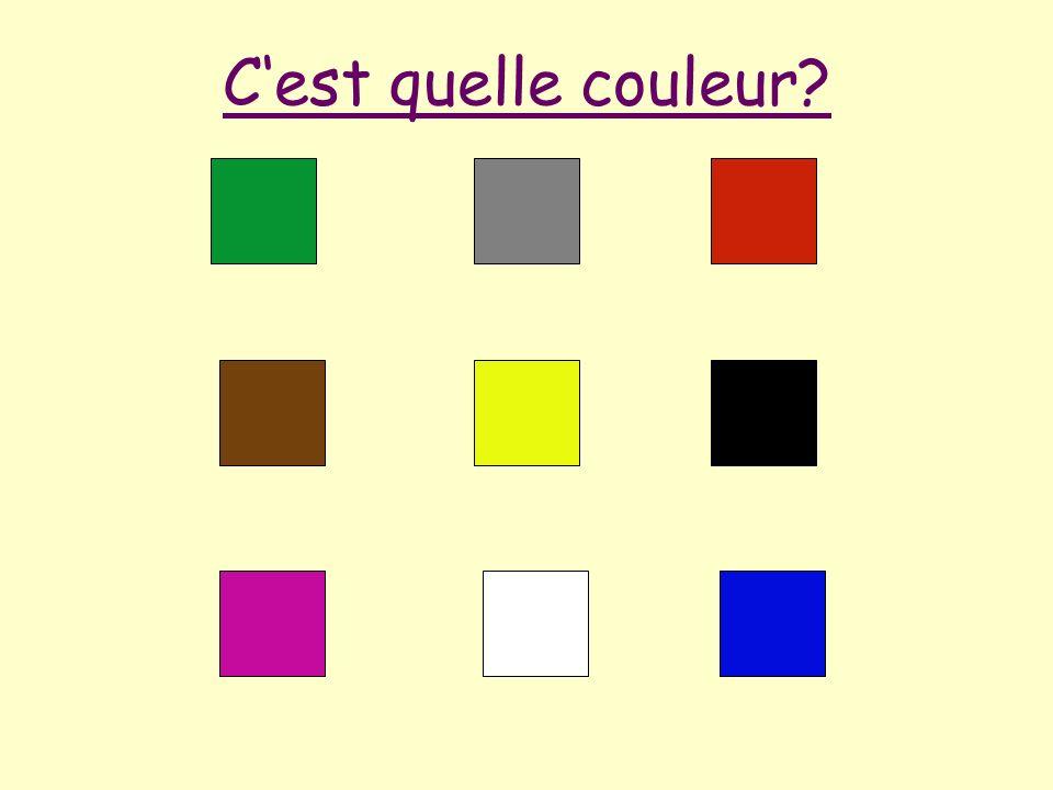 Cest quelle couleur?