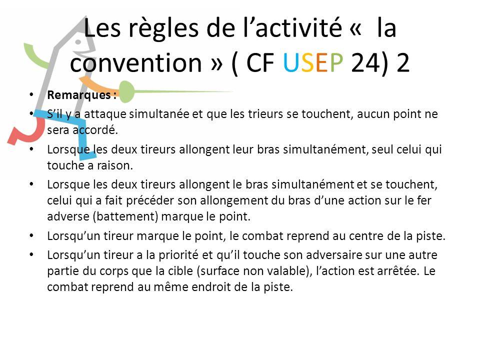 Les règles de lactivité « la convention » ( CF USEP 24) 2 Remarques : Sil y a attaque simultanée et que les trieurs se touchent, aucun point ne sera a