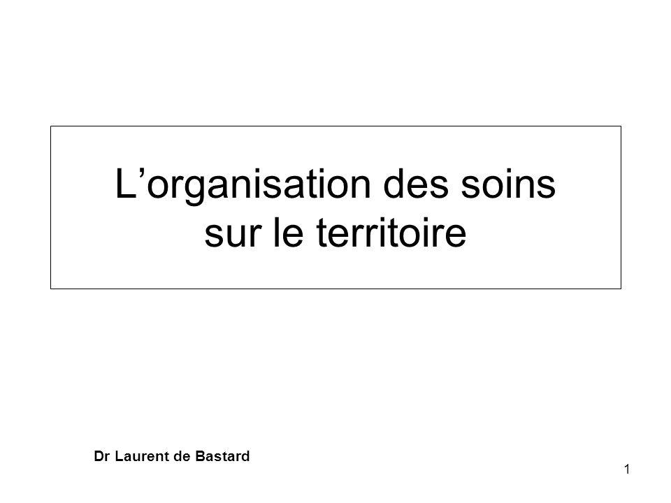 Lorganisation des soins sur le territoire Dr Laurent de Bastard 1