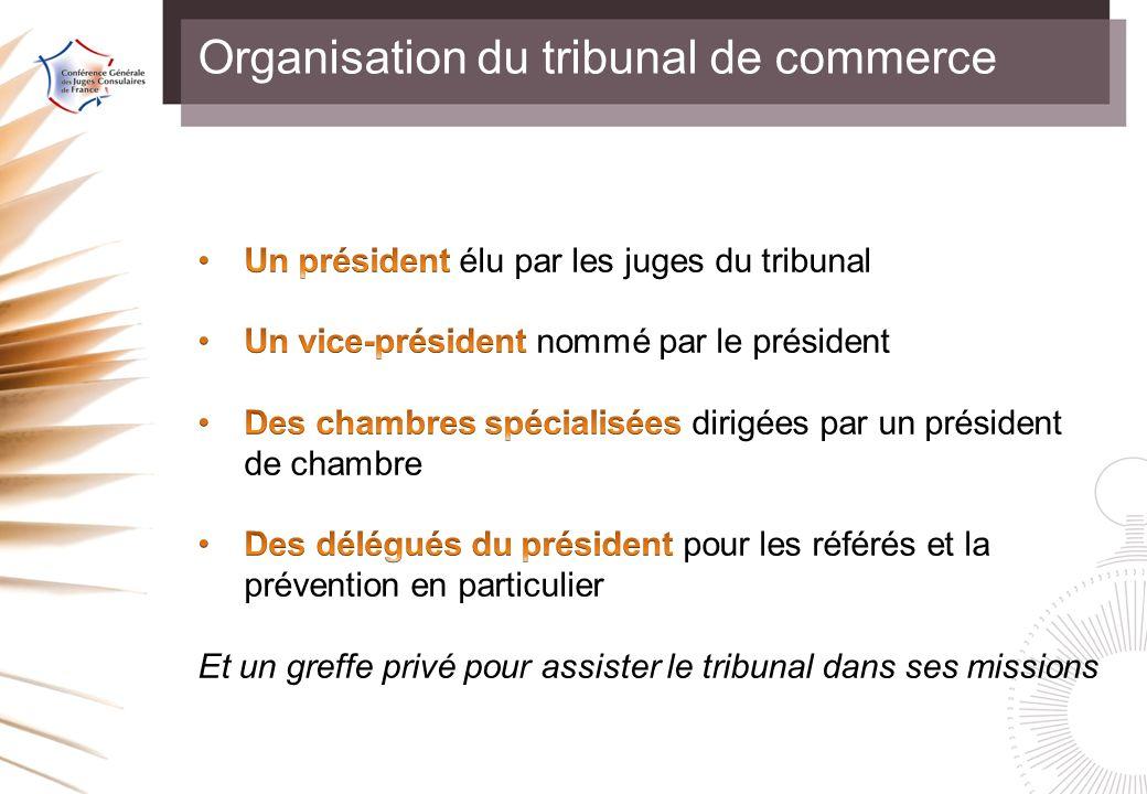Organisation du tribunal de commerce