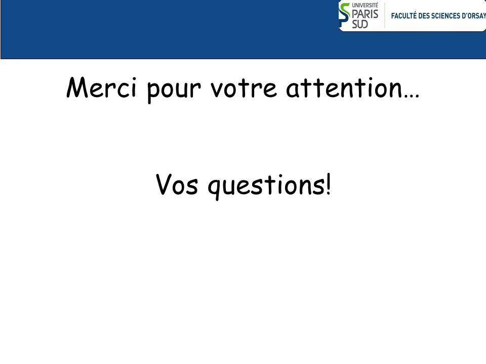 Merci pour votre attention… Vos questions!