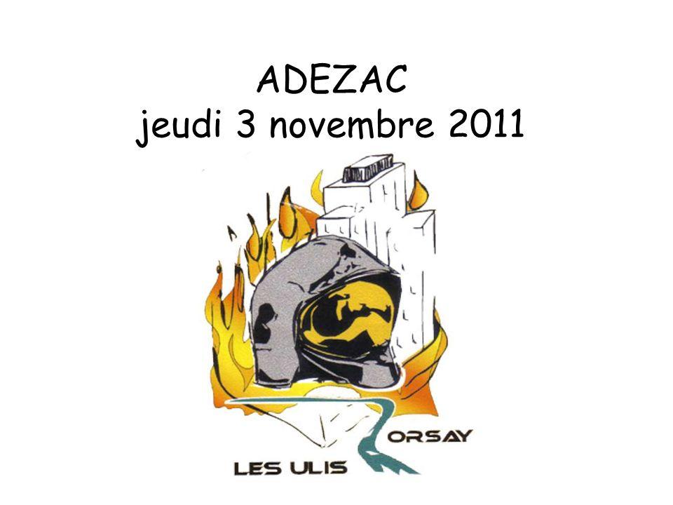 ADEZAC jeudi 3 novembre 2011