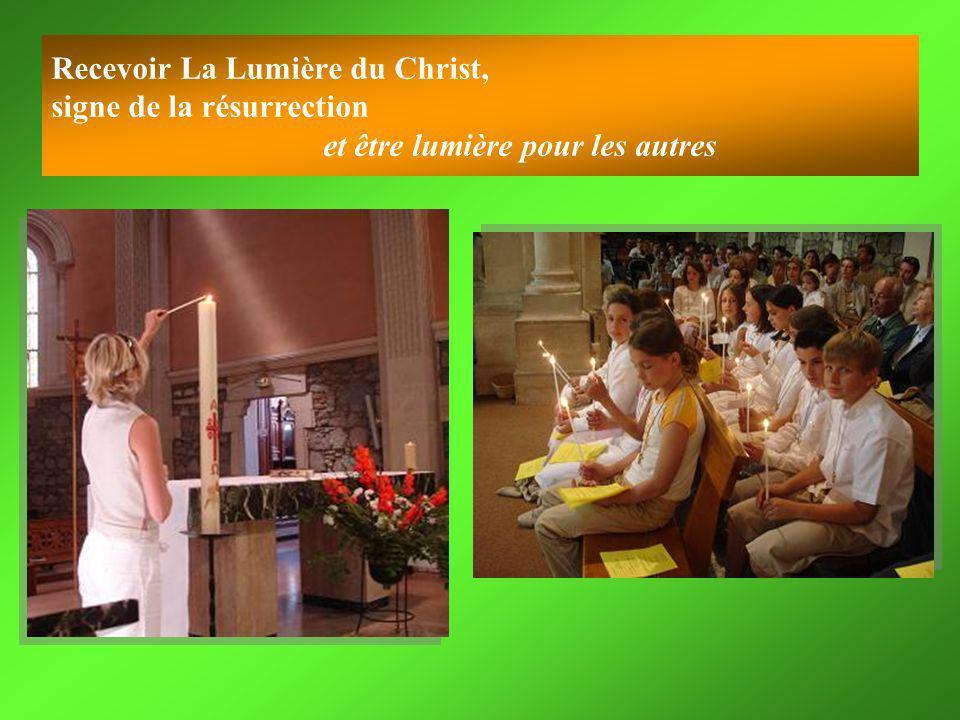 Recevoir La Lumière du Christ, signe de la résurrection et être lumière pour les autres