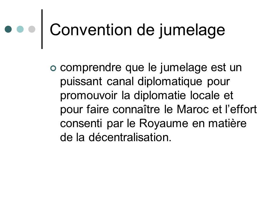 Convention de jumelage comprendre que le jumelage est un puissant canal diplomatique pour promouvoir la diplomatie locale et pour faire connaître le M