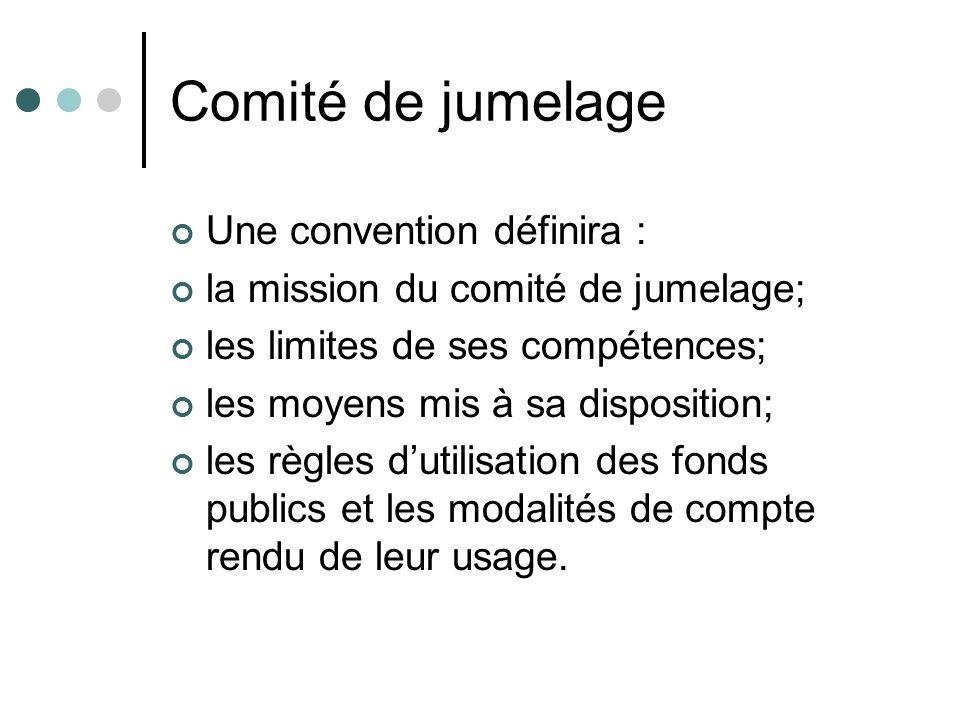 Comité de jumelage Une convention définira : la mission du comité de jumelage; les limites de ses compétences; les moyens mis à sa disposition; les rè