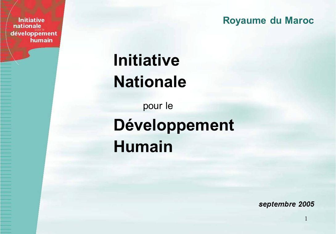 1 Initiative Nationale pour le Développement Humain septembre 2005 Royaume du Maroc