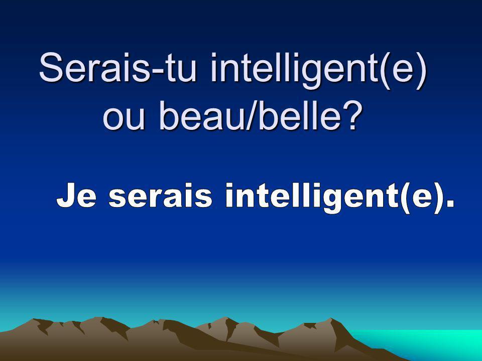 Serais-tu intelligent(e) ou beau/belle?