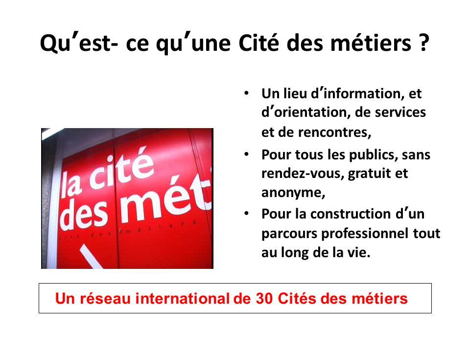 Quest- ce quune Cité des métiers .