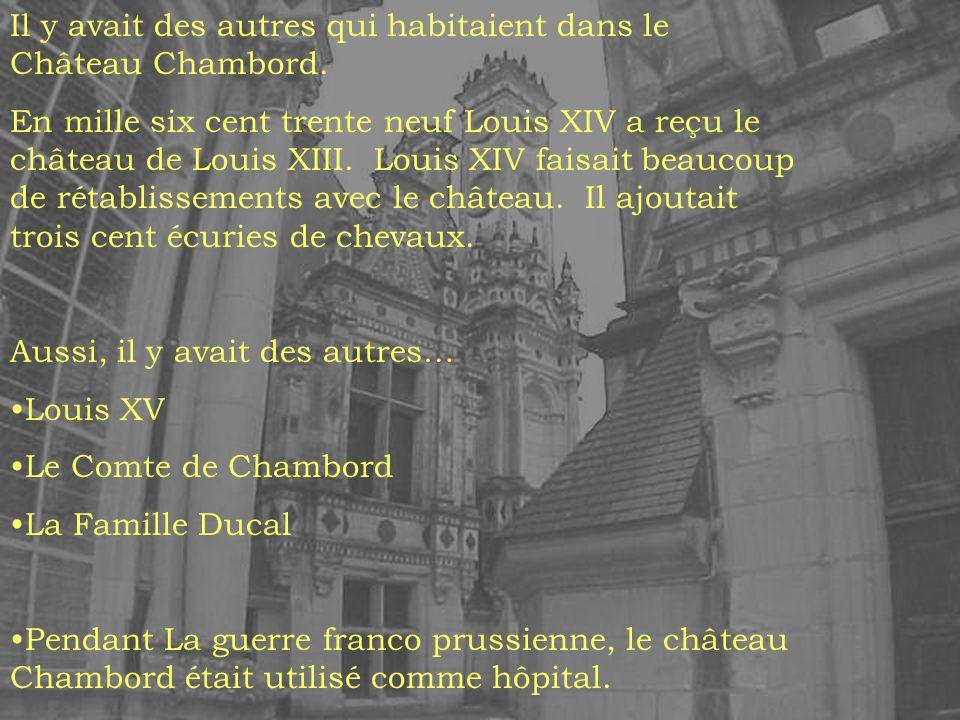 Le Château est devenu le propriété du gouvernement de la France en mille neuf cent trente mais le rétablissement ne commençait pas jusqua mille neuf cent quarante cinq, après la seconde guerre mondiale.