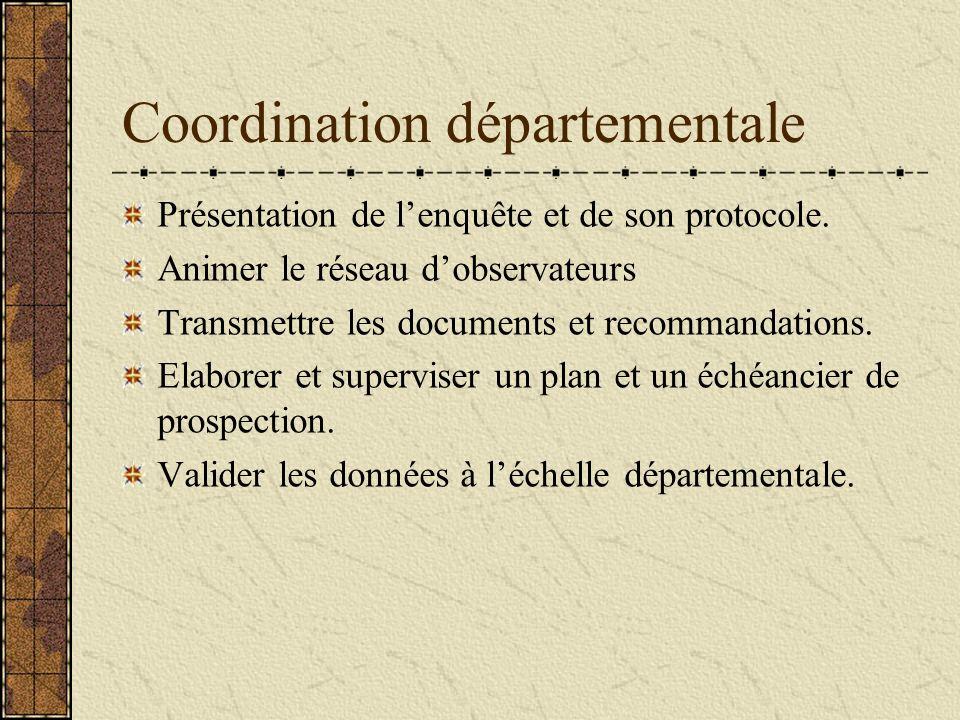 Coordination départementale Présentation de lenquête et de son protocole.