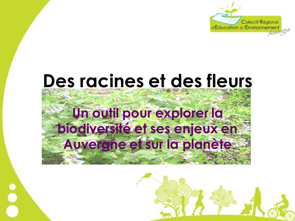 Des racines et des fleurs Un outil pour explorer la biodiversité et ses enjeux en Auvergne et sur la planète