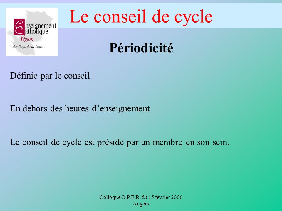 Colloque O.P.E.R.