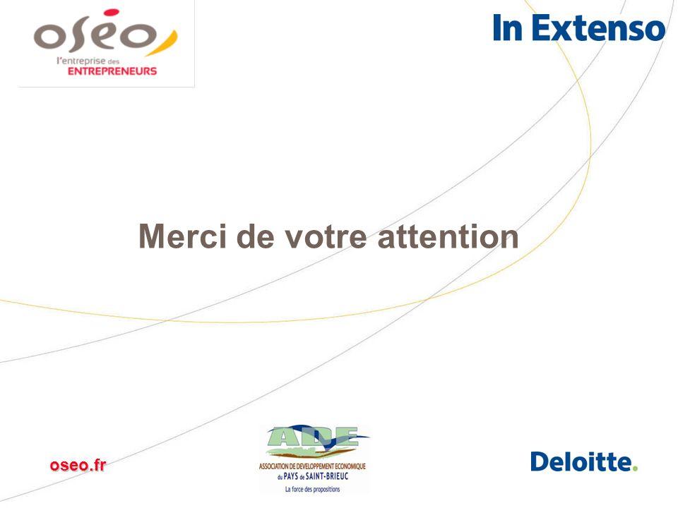 Innovation Trésorerie Croissance International Création Transmission oseo.fr Merci de votre attention oseo.fr