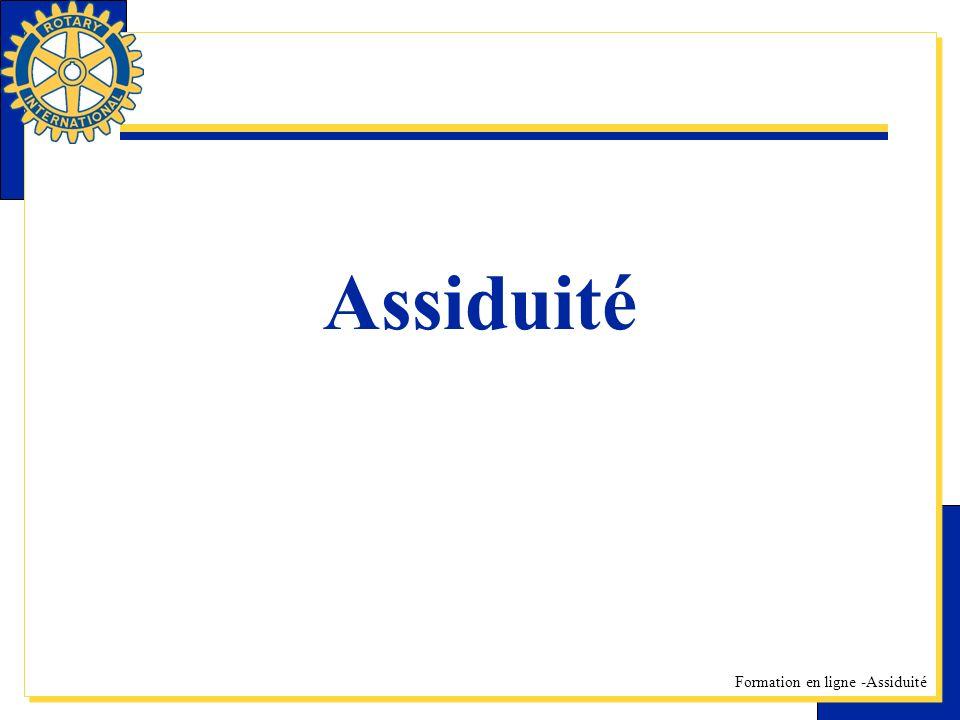 Formation en ligne -Assiduité Assiduité