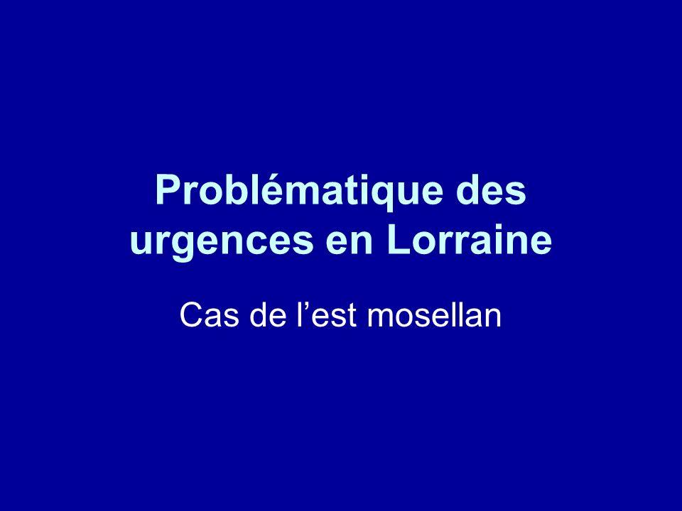 Organisation des urgences en Lorraine 1° S.R.O.S de 1999 découpage de la région en secteurs denviron 400.000 habitants le secteur Nord-est regroupait les bassins Houiller, de Sarreguemines et de Sarrebourg