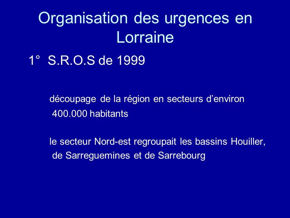 SROS 99 (suite) dans ce secteur quatre hôpitaux sont autorisés à faire fonctionner des services durgence - un Service dAccueil des urgences (S.A.U).