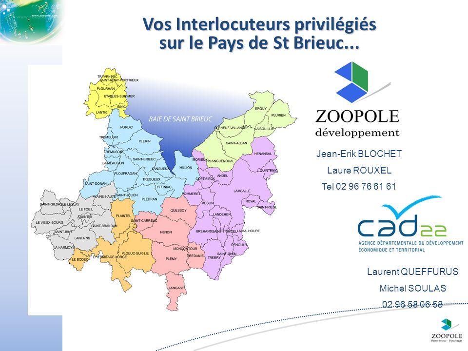 Vos Interlocuteurs privilégiés sur le Pays de St Brieuc...