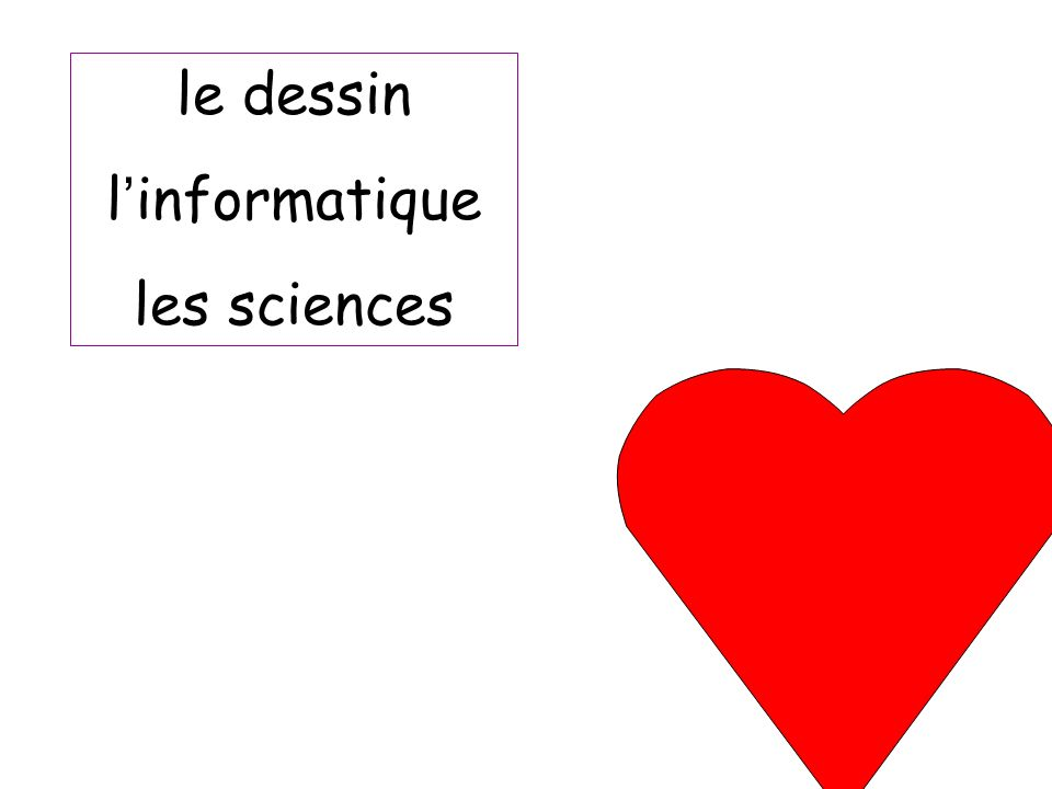 le dessin l informatique les sciences