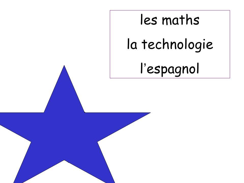 les maths la technologie l espagnol