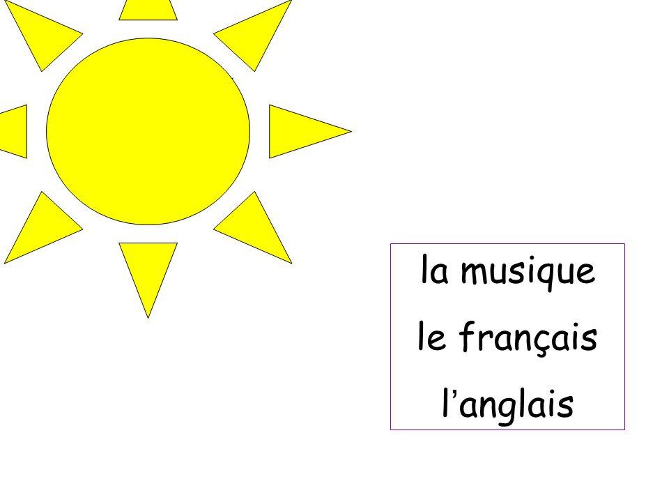 la musique le français l anglais