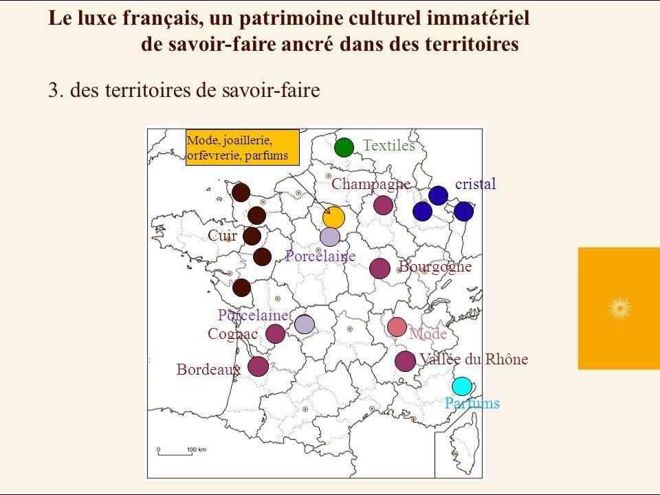 3. des territoires de savoir-faire Le luxe français, un patrimoine culturel immatériel de savoir-faire ancré dans des territoires