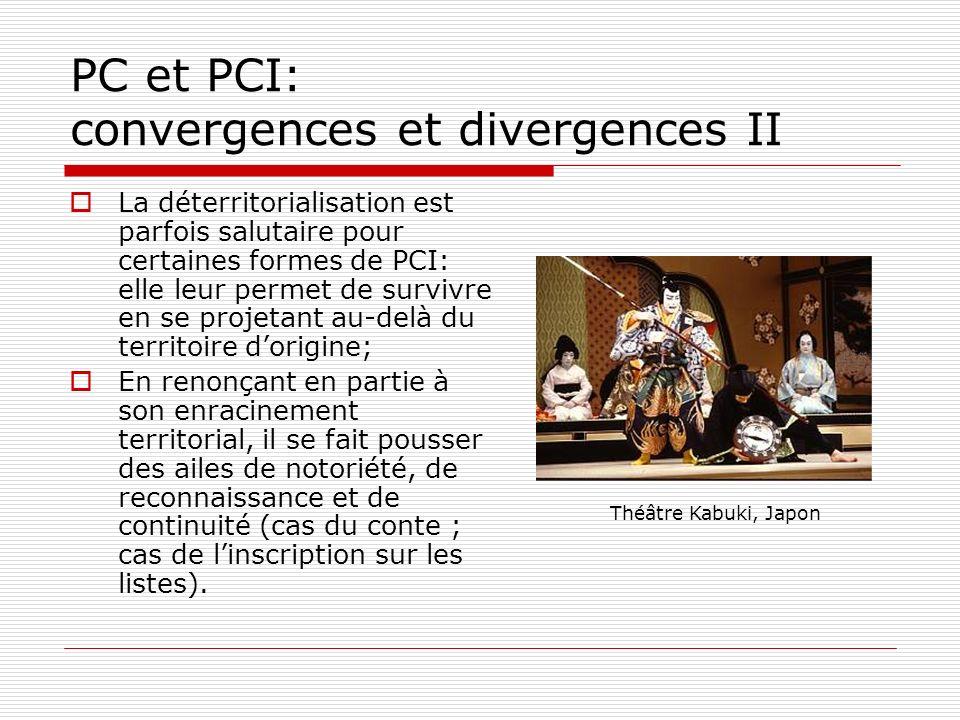 PC et PCI: convergences et divergences II La déterritorialisation est parfois salutaire pour certaines formes de PCI: elle leur permet de survivre en