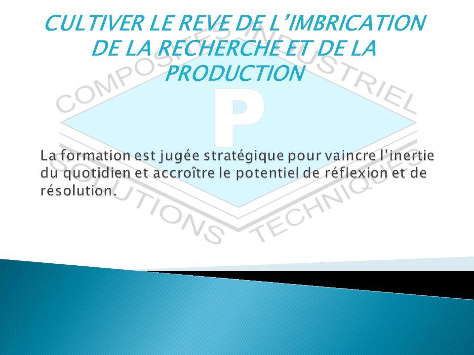 CULTIVER LE REVE DE LIMBRICATION DE LA RECHERCHE ET DE LA PRODUCTION