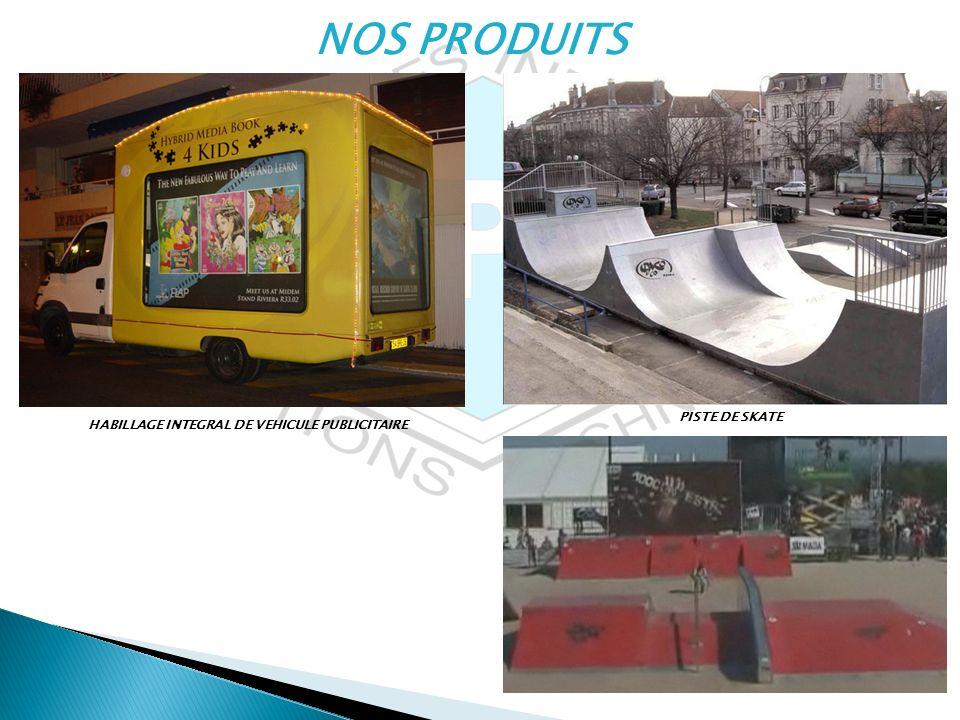 NOS PRODUITS HABILLAGE INTEGRAL DE VEHICULE PUBLICITAIRE PISTE DE SKATE