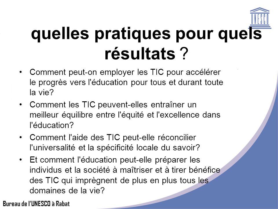 Bureau de lUNESCO à Rabat quelles pratiques pour quels résultats .