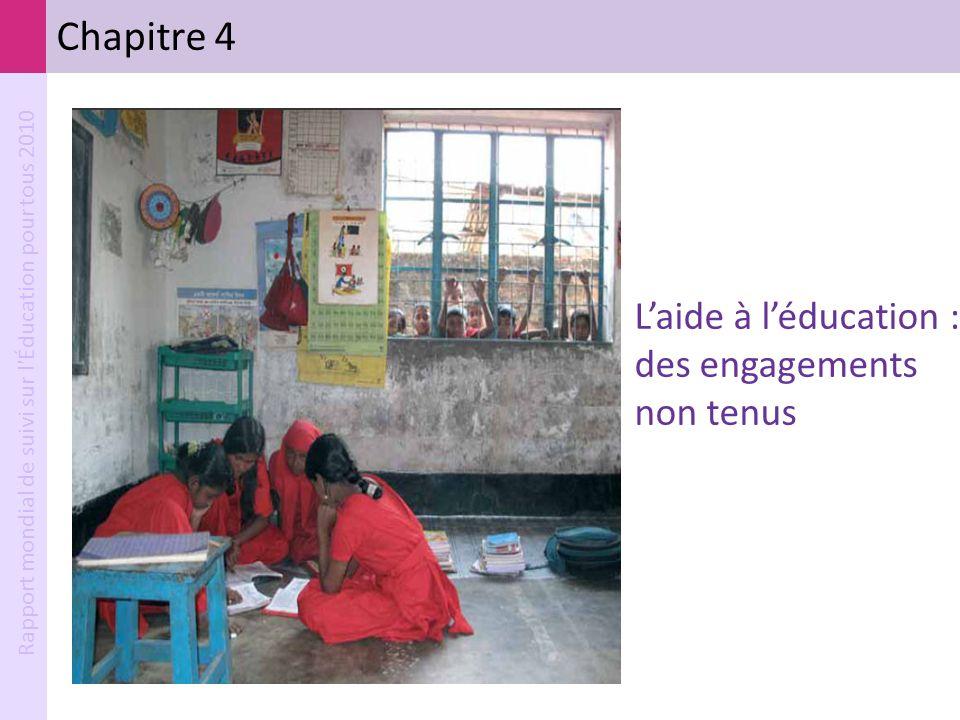 Rapport mondial de suivi sur l'Éducation pour tous 2010 Chapitre 4 Laide à léducation : des engagements non tenus