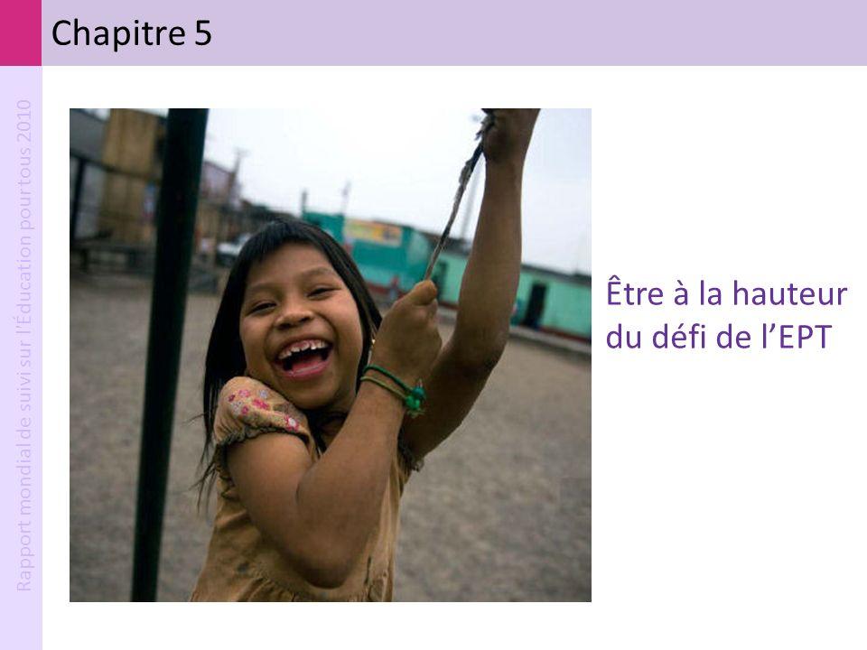 Rapport mondial de suivi sur l'Éducation pour tous 2010 Chapitre 5 Être à la hauteur du défi de lEPT