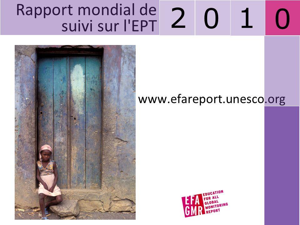 0 www.efareport.unesco.org Rapport mondial de suivi sur l'EPT 2 0 1
