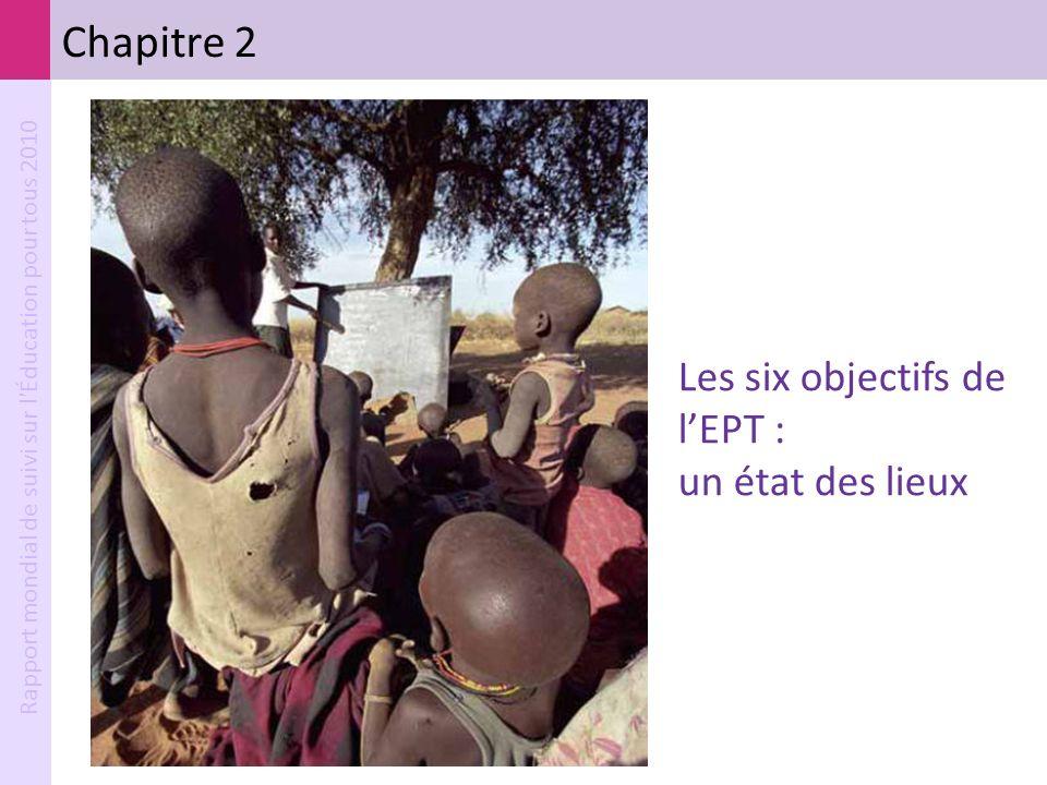 Rapport mondial de suivi sur l'Éducation pour tous 2010 Chapitre 2 Les six objectifs de lEPT : un état des lieux