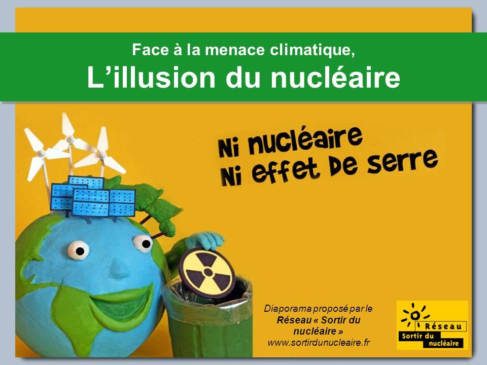 Face à la menace climatique, Lillusion du nucléaire Diaporama proposé par le Réseau « Sortir du nucléaire » www.sortirdunucleaire.fr