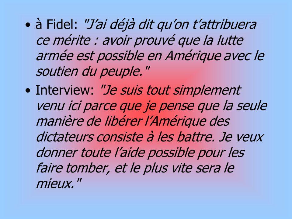 à Fidel: