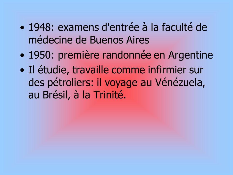 1948: examens d'entrée à la faculté de médecine de buenos aires