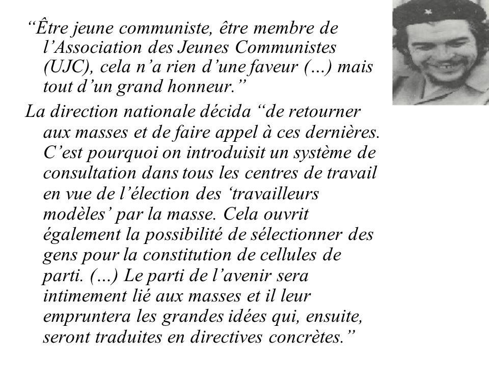 Être jeune communiste, être membre de lAssociation des Jeunes Communistes (UJC), cela na rien dune faveur (…) mais tout dun grand honneur.