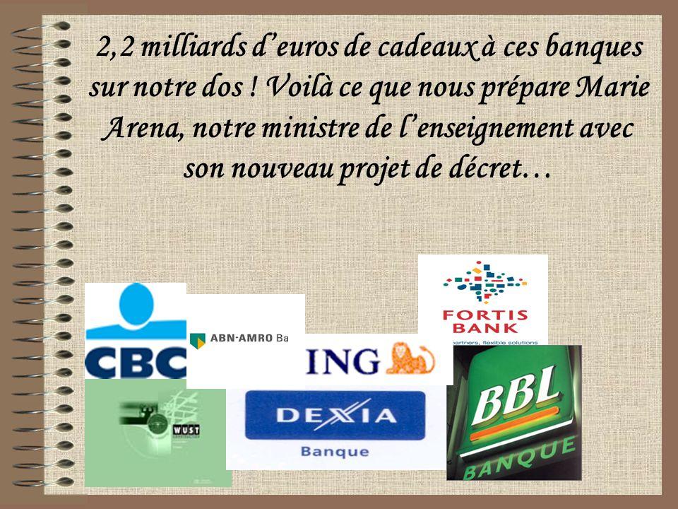 2,2 milliards deuros de cadeaux à ces banques sur notre dos .