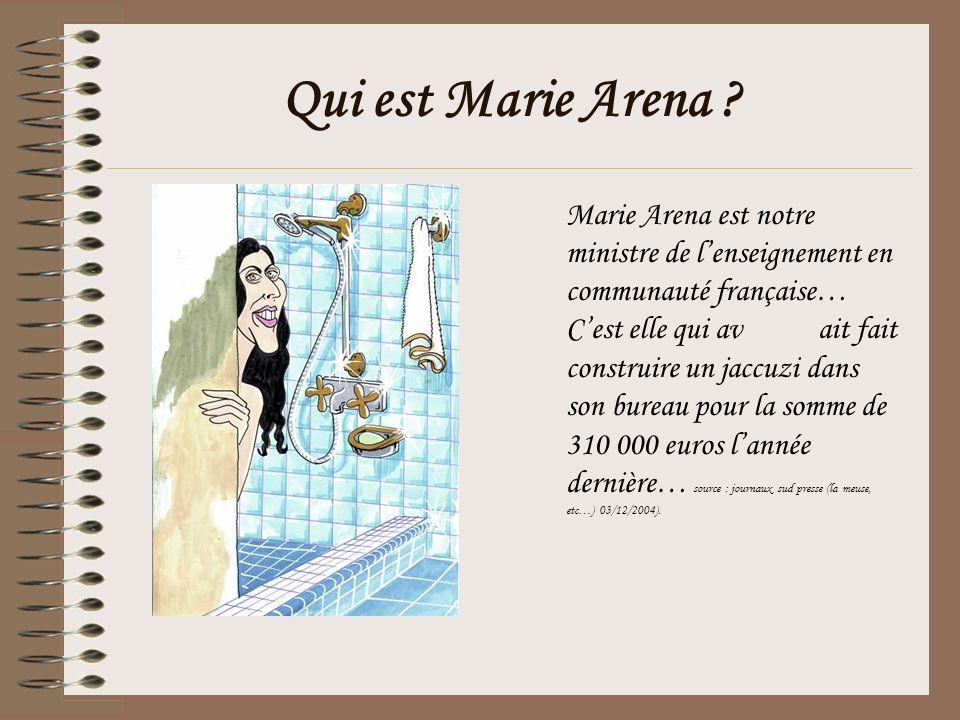 Qui est Marie Arena .