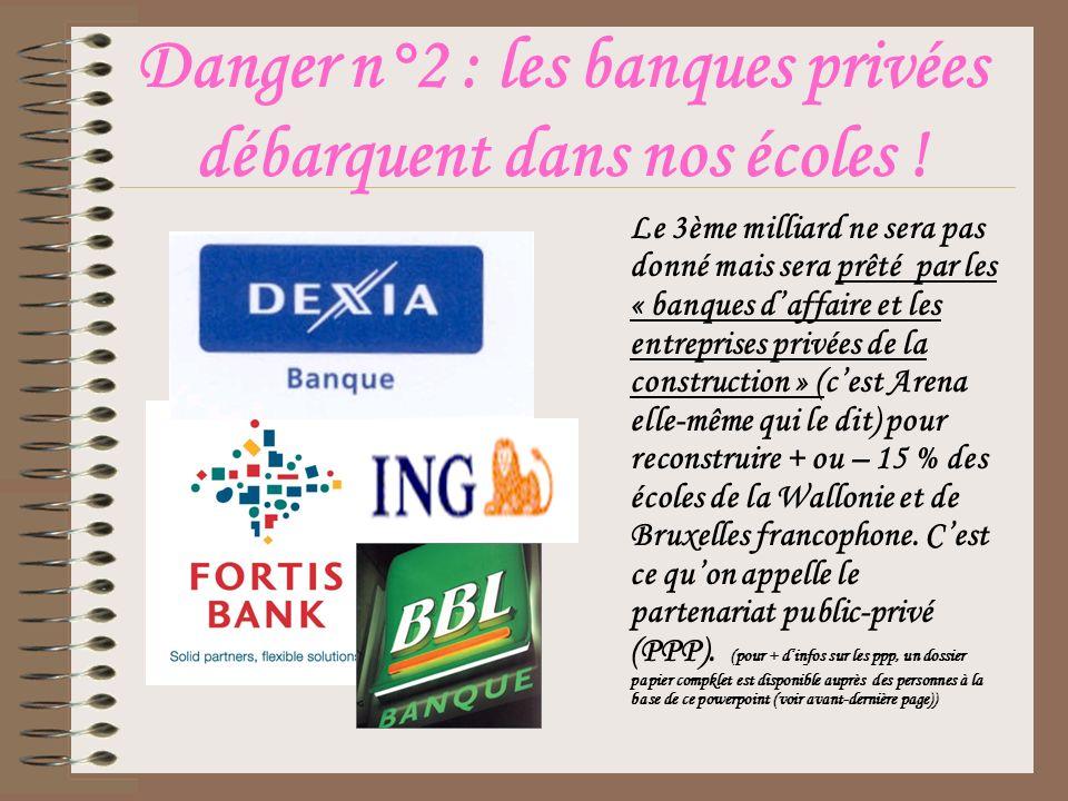 Danger n°2 : les banques privées débarquent dans nos écoles .