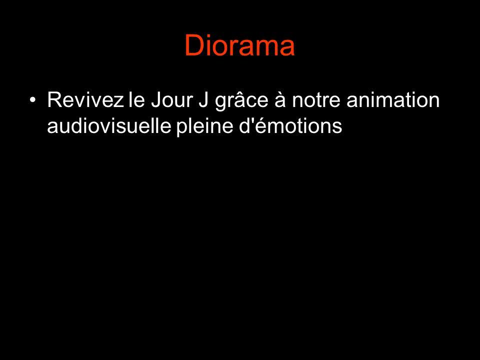 Diorama Revivez le Jour J grâce à notre animation audiovisuelle pleine d émotions