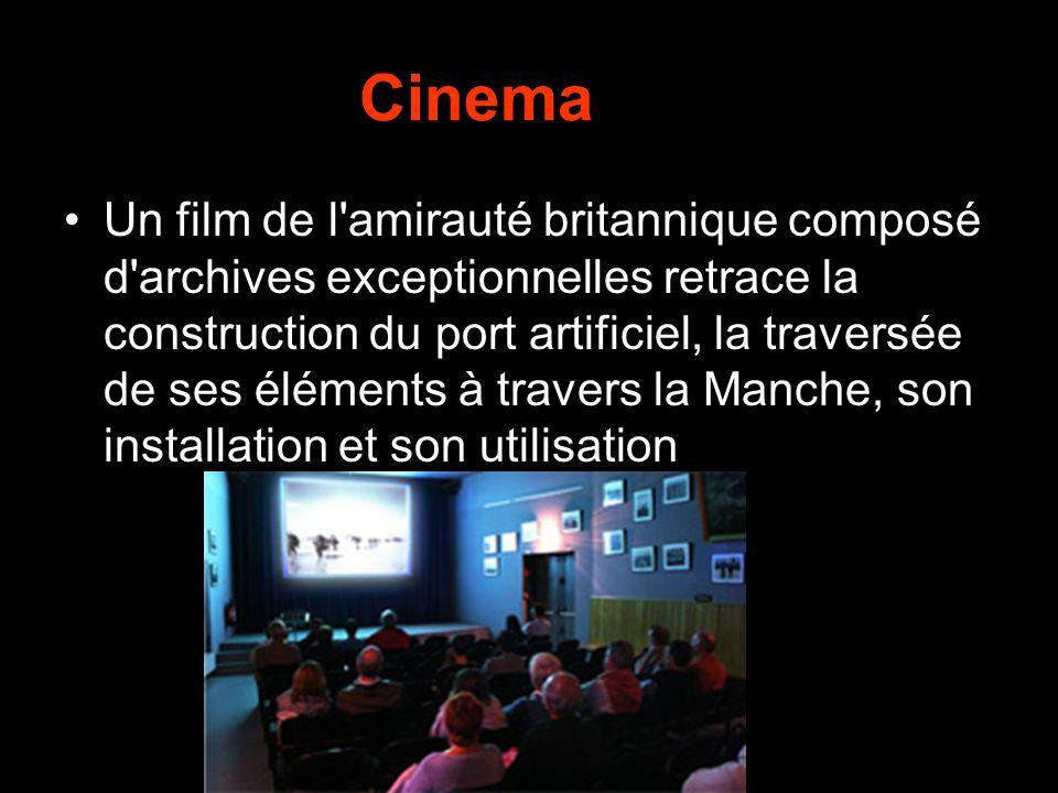 Cinema Un film de l amirauté britannique composé d archives exceptionnelles retrace la construction du port artificiel, la traversée de ses éléments à travers la Manche, son installation et son utilisation