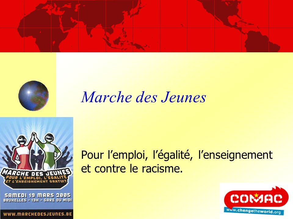 Marche des Jeunes Pour lemploi, légalité, lenseignement et contre le racisme.