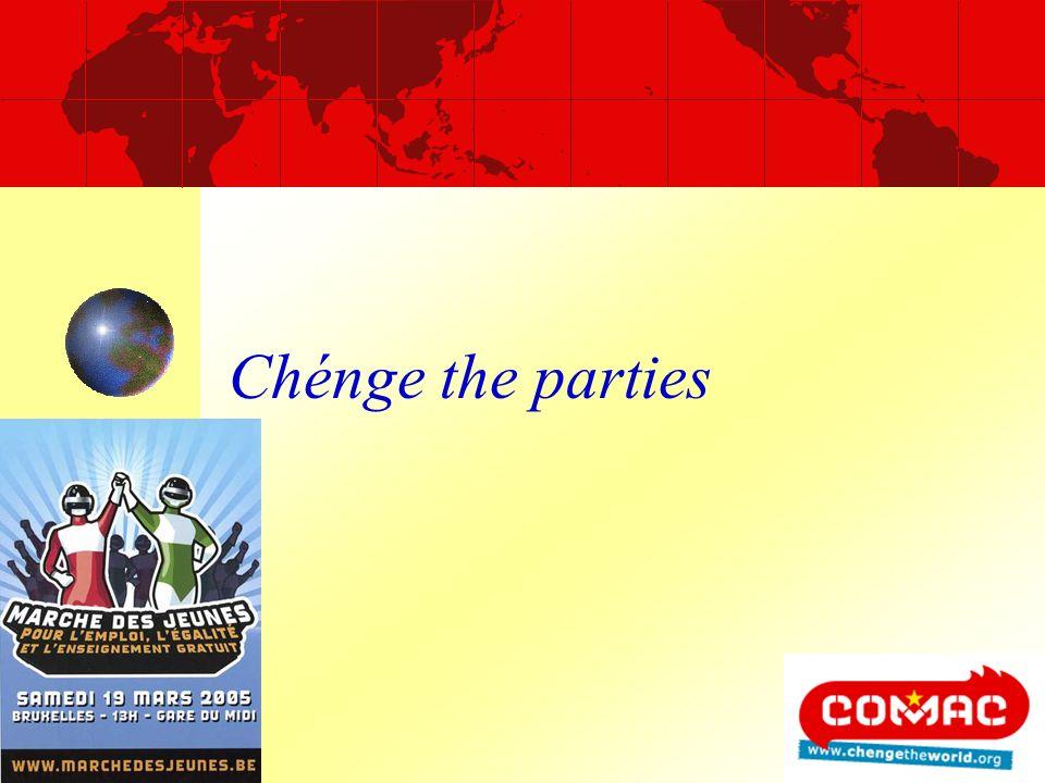Chénge the parties