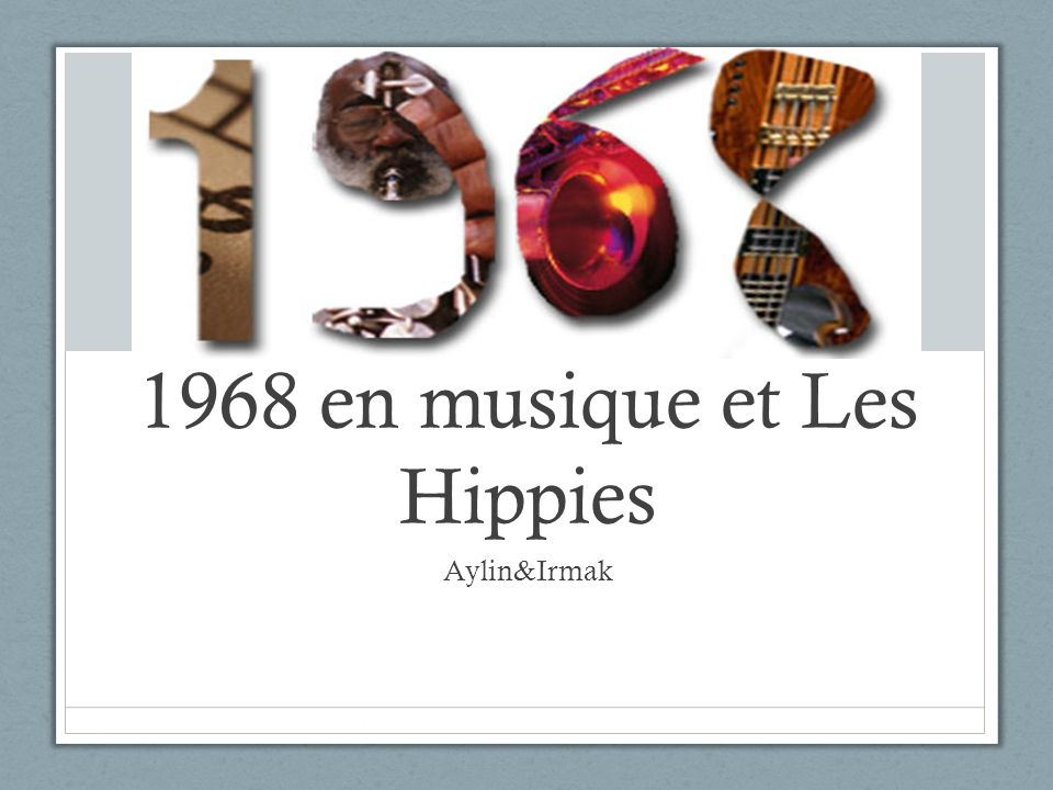 1968 en musique… Les meilleurs chansons The Beatles-Hey Jude Louis Armstrong-What a Wonderful World Otis Redding-Sittin on the dock of the bay The Rolling Stones-Jumpin Jack Flash The Beatles- Lady Madonna