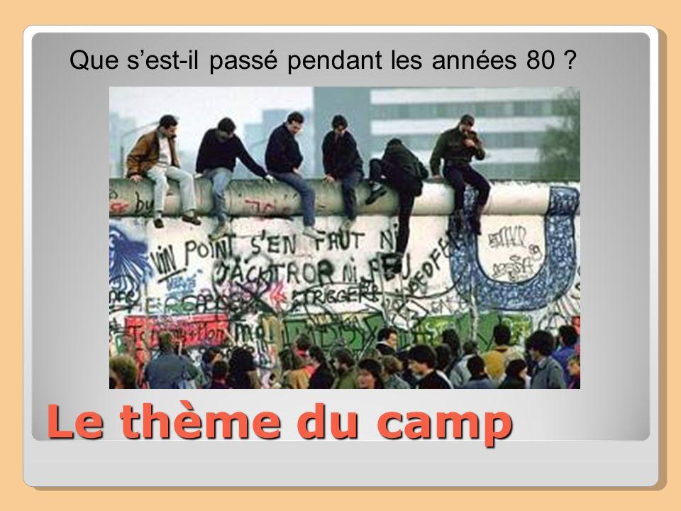 Le thème du camp Que sest-il passé pendant les années 80